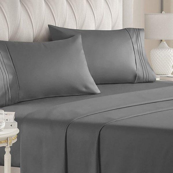 gray sheets Bed Sheets 1800 Thread Count Sheets