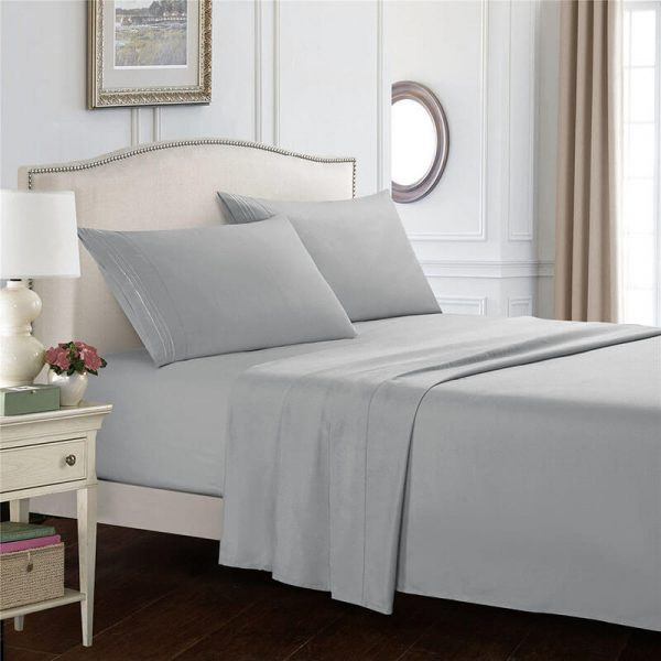 deep fitted sheets-gray