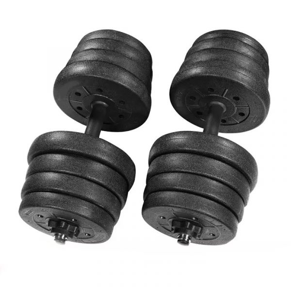 Weight of Dumbbell Sets with 16 Dumbbell Plates 2 In 1 Barbell and Dumbbell
