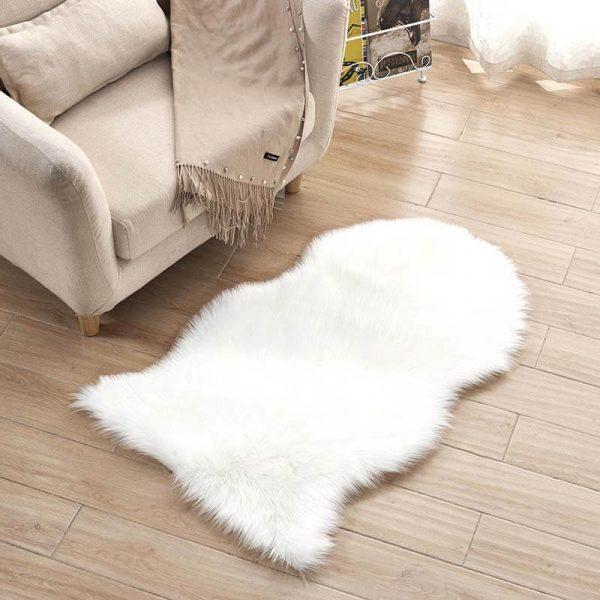 Irregular Soft Faux Sheepskin Rug