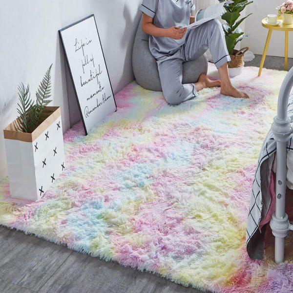 fluffy plush carpet