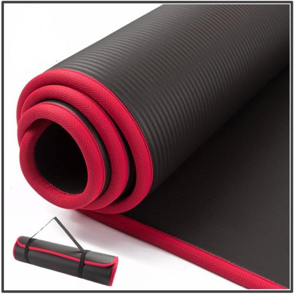 10MM Thick Non-slip Yoga Mat For Fitness Exercise Pads with Bandages